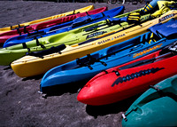 Kayaks and Black Sand