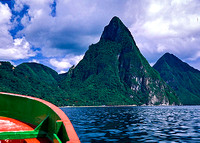 Pitons View from Boat